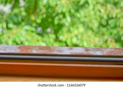 Rainy day through the window