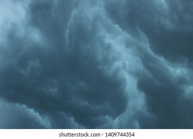 Rainy gray clouds in the rain