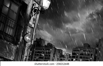 Rainy Night in a Big City