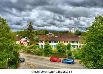 Rainy weather in Zurich (Switzerland)