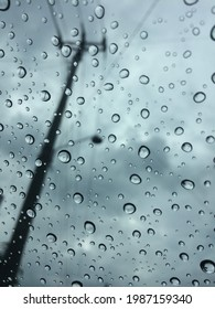 Rainyday in cloudy sky droped at glasses
