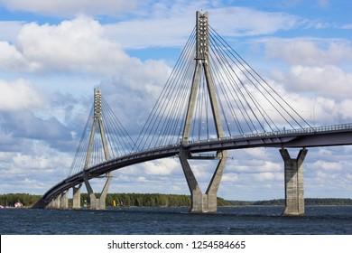 Raippaluoto bridge in Vaasa Finland