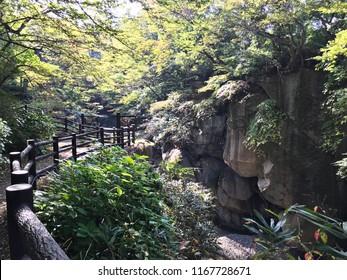 Rairaikyo Gorge in Miyagi prefecture of Japan.