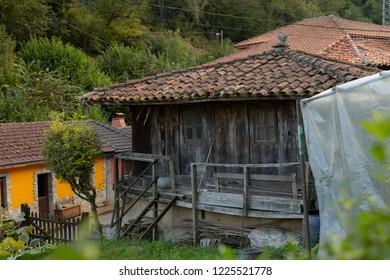 Raised granary in a village