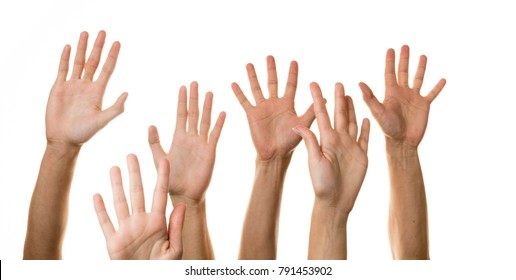 Raised Hands palms up