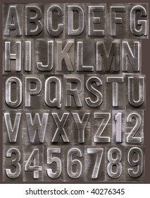 Raised metallic type