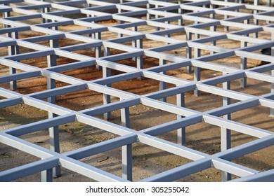 Raised Steel Floor Structure System