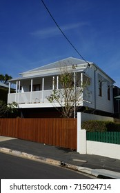 Raised timber constructed house (known as Queenslander)