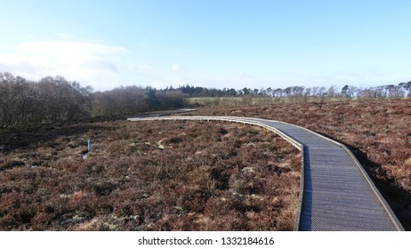 Raised walkway on moorland