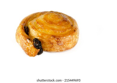 Raisin Bread isolated on the white background.
