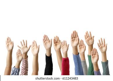 The raising hand