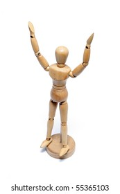 RAISING HAND BY WOOD MODEL