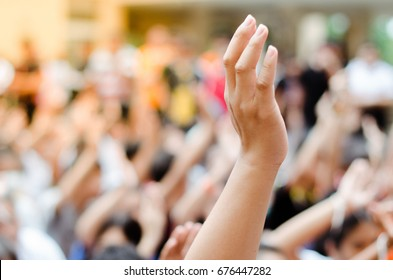 Raising Hands for Participation.