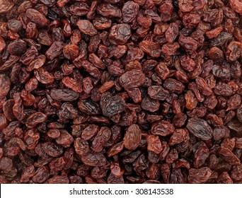 Raisins as an abstract background texture
