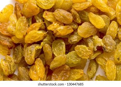 raisins on the white background
