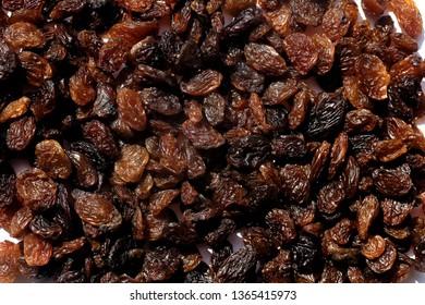 Raisins and Sultanas flatly closeup