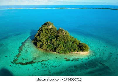 Raivavae, Australes Islands, French Polynesia. amazing view with drone