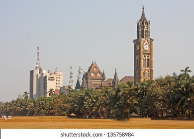 Rajabai Tower - historic clock tower, Bombay, India, Asia