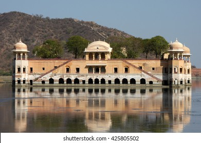 RAJASTHAN, INDIA - MARCH 03, 2006: View of Jal Mahal, a palace on the lake, city of Jaipur