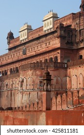 RAJASTHAN, INDIA - MARCH 03, 2006: View of one of the facades of Junagarh, Red Fort of Bikaner