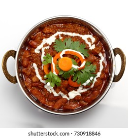 Rajma curry or rajma masala. Indian food curry.