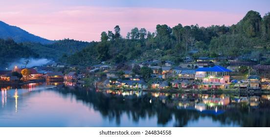 Rak thai village in Mae Hong Son, Thailand