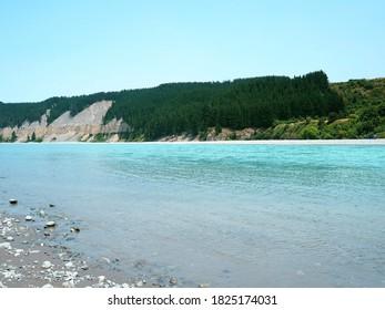 Rakaia River in New Zealand