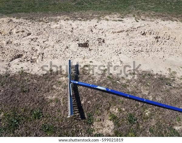 rake in the sand