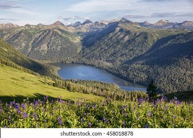Rakhmanovskoe lake in East Kazakhstan, Altai mountains
