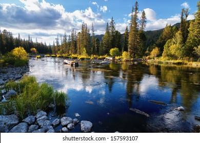 Rakhmanovskoe River in East Kazakhstan, Altai mountains