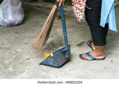 raking leaves  garden housework