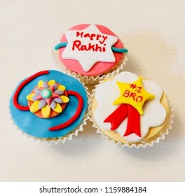 Raksha Bandhan is a festival of the Indian subcontinent and centred around the tying of a thread on the wrist as a form of bond and ritual protection. Picture of Rakhi cupcakes.