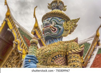 Rakshasa. Gate guard at the Grand Royal Palace in Bangkok (Thailand)