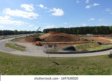 RALEIGH, NC - April 1: Highway Road Construction