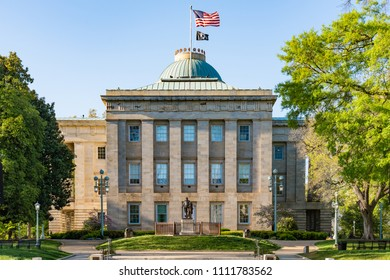 RALEIGH, NC - APRIL 17, 2018: North Carolina Capitol Building in Raleigh