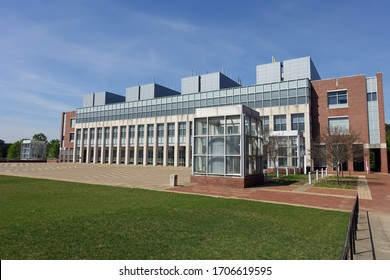 RALEIGH, NC - April 2020: Larry K. Monteith Engineering Research Center on the North Carolina State University (NCSU) Centennial Campus
