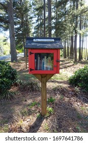 RALEIGH, NC - APRIL 2020: A Little Library in the Woods