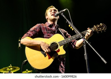 Raleigh, NC - September 5, 2013:  Phillip Phillips live in concert.  Phillip Phillips Jr. is an American singer-songwriter, known as the winner of the eleventh season of American Idol.