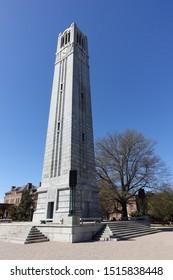 RALEIGH, NC / USA - April 2018: Bell Tower at North Carolina State University