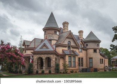 Raleigh / NC / USA - August, 24, 2019: Capehart House is a historic construction with distinct architecture, currently NC state Dept of Administration