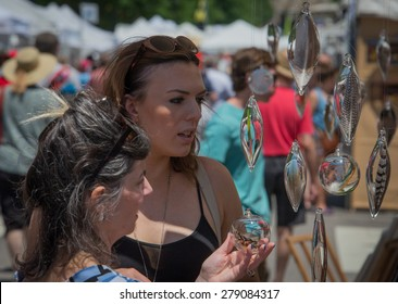 RALEIGH, NC, USA - MAY 16: The Artsplosure weekend in downtown Raleigh hosted many artists of a great variety on May 16, 2015 in Raleigh, NC, USA