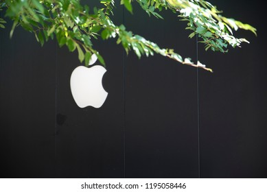 Raleigh, NC/United States- 09/20/2018: The exterior of an Apple retail location at a mall.