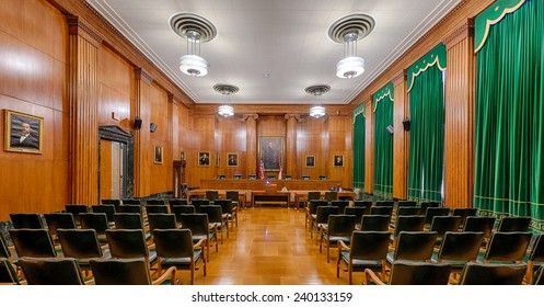 RALEIGH, NORTH CAROLINA - DECEMBER 12: Supreme Court chamber in the Supreme Court building on December 12, 2014 in Raleigh, North Carolina