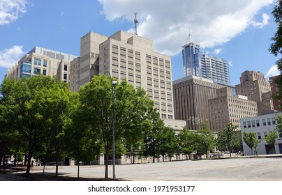 Raleigh, North Carolina - Downtown Cityscape
