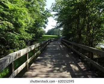 Raleigh, North Carolina  - Green Way Path around Shelley Lake