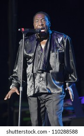 RALEIGH, NORTH CAROLINA - JULY 20: singer Eddie Levert performs on stage at Time Warner Cable Music Pavilion at Walnut Creek on July 20, 2012 in Raleigh, North Carolina.