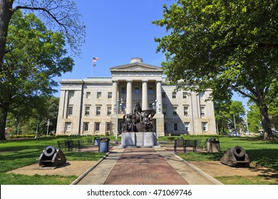 Raleigh, North Carolina, USA - April 4, 2012: North Carolina State Capitol Building in Raleigh