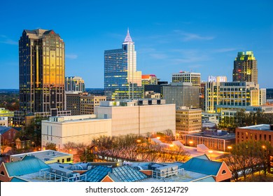 Raleigh, North Carolina, USA downtown city skyline.