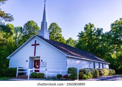 Raleigh, North Carolina USA-04 30 2021: Venture Church is a Small Non-Denominational Christian Church in North Carolina.