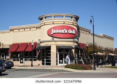Raleigh, North Carolina/United States- 10/24/2018: The exterior of a Jason's Deli location in Raleigh.
